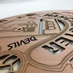 Laser-cut wood – great for sign faces, logos, arts and crafts, etc.